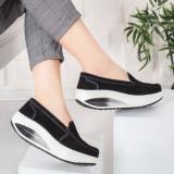 Pantofi Piele dama negri Viviane