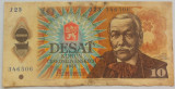 Bancnota 10 COROANE - RS CEHOSLOVACIA, anul 1986 *cod 115 B