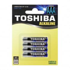 Baterii alcaline Toshiba R3 AAA, set 4 bucati