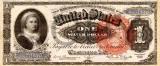 1 dolar 1886 Reproducere Bancnota USD , Dimensiune reala 1:1