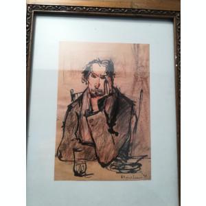 Grafică realizată de artistul ieșean Manuell Mănăstireanu