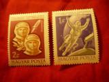 Serie Ungaria 1965 - Cosmos - Voshod 2 , 2 valori, Nestampilat
