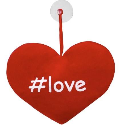 Perna Inimioara De Plus Cu Ventuza #love - 15 cm
