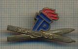 Y 1003 INSIGNA -PIONIERI - COMPETITIE SCHI(SKI) -REPUBLICA DEMOCRATA GERMANA1958