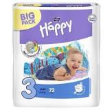 Scutece copii Happy Midi, 72 buc