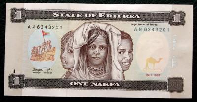 Eritrea 1 Nakfa 1997 UNC necirculata  ** foto