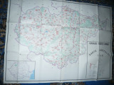 Harta mare a Judetului SALAJ 1983 ,dim.=119x88cm RSR Inst. Geodezie si Organi