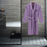 Beverly Hills Polo Club, Halat de baie unisex, 100% bumbac, 360 gr m , Lila, XS-S Standard