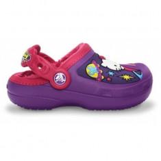 Saboți Copii casual Crocs Hello Kitty Space Adventure Lined, 30, Mov