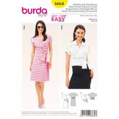 Tipar rochie si bluza Burda Style 6664