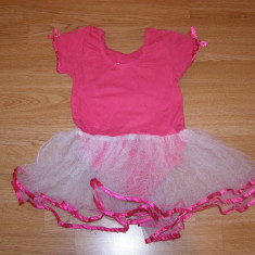 costum carnaval serbare rochie dans balet gimnastica pentru copii de 4-5 ani