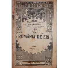 ROMANIA DE ERI - ION SIMIONESCU
