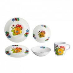 Set serviciu masa din portelan pentru copii SNAIL, 010790