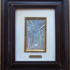 A.Del Giudice - Tablou din argint - semnat, stantat