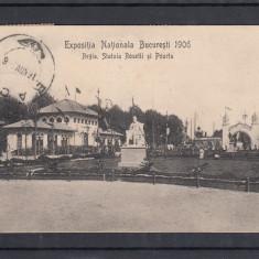 BUCURESTI   EXPOZITIA  NATIONALA  1906 REGIA  ROSETTI  POARTE STAMPILA JUBILIARA