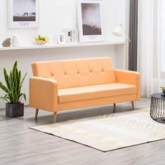Canapea din material textil galben