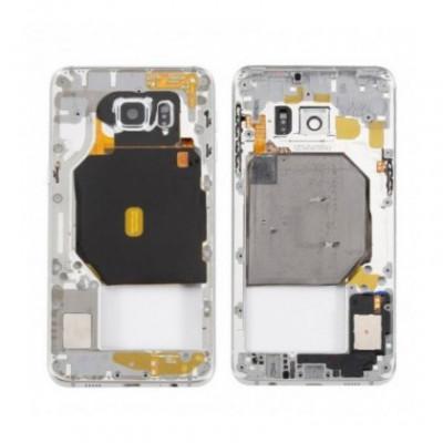 Carcasa mijloc cu geam camera / blitz , Samsung Galaxy S6 edge+ G928 Gold Orig Swap B foto
