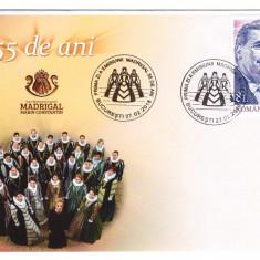 2018 - 55 ani Corul Madrigal, FDC