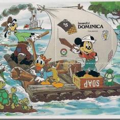Dominica 1985 Tom Sawyer, Cartoon, Disney, perf.sheet, MNH AD.015, Nestampilat