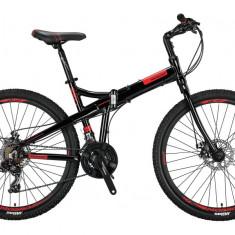 """Bicicleta Mosso Marine 2D pliabila, Aluminiu , Roata 26"""" , Culoare Negru/RosuPB Cod:M01MSO2600517004"""