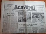Ziarul adevarul 22 mai 1990-estimarile il dau pe ion iliescu castigator cu 84,6%
