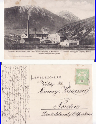 Zarnesti (Brasov ) - Fabrica de hartie - rara foto