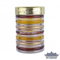 Recipent condimente din sticla pictata cu capac Peterhof PH10026 1.3L