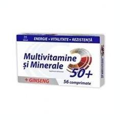 Multivitamine + Minerale + Ginseng 50+ Zdrovit 56cpr Cod: zdro00444