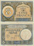 1943 ( 14 IX ) , 5 francs ( P-33 ) - Maroc