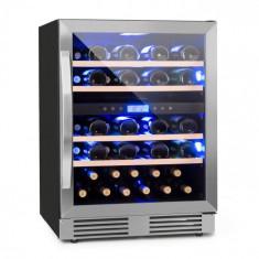 Klarstein Vinovilla Duo 43, vinotecă cu două zone, frigider, 129 l, 43 sticle., 3 LED-uri de culoare, ușă din sticlă