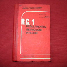 Cauti REGULAMENTUL SERVICIULUI INTERIOR-RG 1? Vezi oferta pe