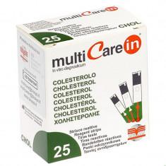 Teste colesterol pentru aparatul Multicare-IN, 25 teste/cutie