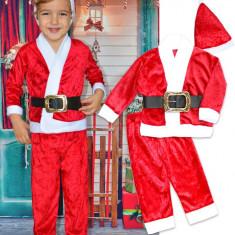 Costum Mos Craciun copii din catifea