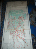 Harta mare a judetului ARGES 1979 , dim.=190x86cm RSR Inst. Geodezie si Org.