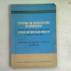 CANTARI SI STRIGATURI ROMANESTI - NICOLAE PAULETI