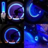 Capace valva ventil anvelopa, roata, autovehicule, moto, biciclete, led albastru