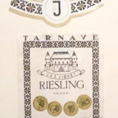 Etichete romanesti vin / eticheta veche romaneasca Riesling Tarnave Jidvei '70