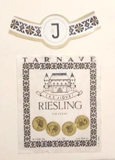 Etichete romanesti vin / eticheta veche romaneasca Riesling Tarnave Jidvei '70 foto
