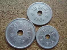 ROMANIA -SET 5 BANI 1905 + 10 BANI 1905 + 20 BANI 1905, CAROL I , L7.61 foto
