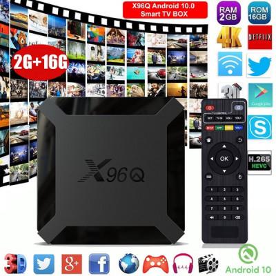 Tv Box Mediaplayer X96Q 4K-3D, Allwinner H3, 2gb,16gb, Wifi ,OTA,Android 10.0 foto
