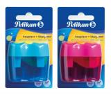 Ascutitoare Plastic Dubla Cu Container, Diverse Culori, 1 Bucata/blister