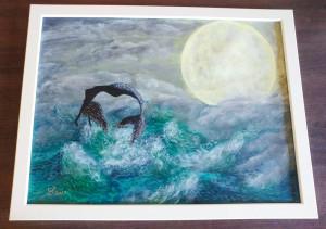 Tablou pictura acrilica Sirena