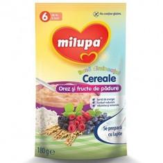 Cereale Milupa Buna Dimineata cu orez si fructe de padure, 180g