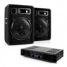 "Electronic-Star Set complet DJ PA ""Nizza Nights"" Amplificator 2x Boxe"