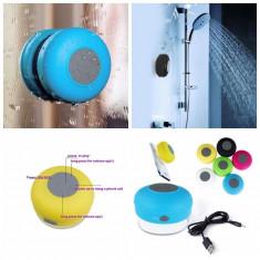 Boxa portabila, rezistenta la apa, din silicon, albastru, Gonga