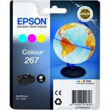 Cartus cerneala epson 267 color singlepackpentru workforce wf-100w.