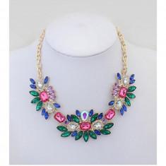 Colier fashion cristale multicolore
