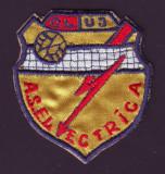 Anii 70 - Emblema sportiva brodata A.S. ELECTRICA Cluj, club de volei