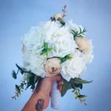 Buchet mireasa/nasa - Flori 3D