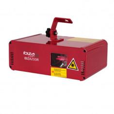 Laser Ibiza pentru cluburi, 200 mW, 650 nm, DMX, rosu